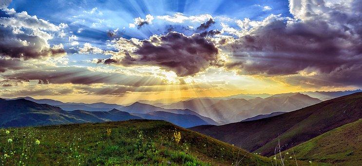 sunset dawn nature